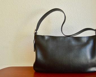 Vintage Coach Legacy 9407 Black Shoulder Bag / Hobo Bag / Satchel / Minimalist Leather Purse 1990s EUC