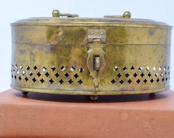 Large Brass Cricket Box