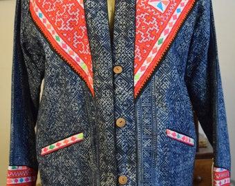 Authentic Thai Batik Embroidered Jacket