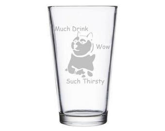 Doge Meme Pint Glass, Doge Meme Gifts, Meme gift, Meme Mug, Dank Meme Gift, Dank Memes, Doge Gifts, Doge Meme, Shiba Inu, Funny Dog Meme