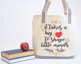 Teacher tote bag| Personalized Teacher Tote Bag |Kindergarten teacher tote|Preschool teacher gift| Teacher appreciation gift |Teacher gift