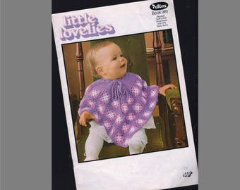 Patons 981 Little Lovelies Pattern Book / Knitted and Crocheted Baby Clothes / Vintage Baby Patterns / 8 designs / original paper pattern