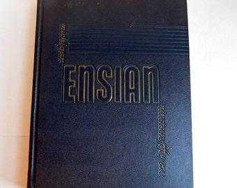 Vintage 1951 University of Michigan Ensian Yearbook - Michiganensian College Yearbook - Mid-Century Youth Photos - Memorabilia College Life