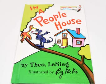 THEO. LESIEG In A People House Book ~ In A People House Book ~ Theo. LeSieg Books ~ Theo. LeSieg ~ Children's Books ~ Young Reader Books