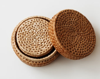 Vintage Woven Coasters (Set of 6)