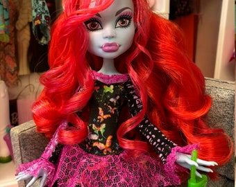 Ooak reroot Abbey Bominable Monster High doll by Denisa