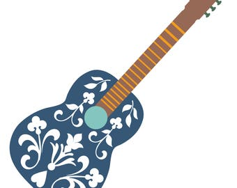 Guitar Cut File .SVG .DXF .PNG