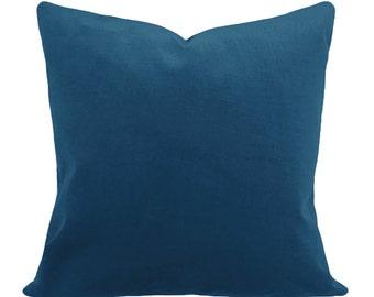 Turquoise Blue Velvet Pillow Cover - Decorative Pillow - Both Sides - 12x16, 12x20, 14x18, 14x24, 16x16, 18x18, 20x20, 22x22, 24x24, 26x26
