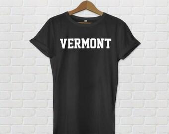 Vermont Varsity Style T-Shirt - Black
