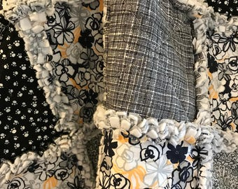 Pet Bedding-Dog-Cat Blanket-Rag Quilt-Crate Mat-Modern-Paw Prints-Flowers-Reversible-Pet Supplies-Black-Gray-Yellow-Couch Cover-Travel.