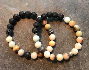 amazonite essential oil bracelet, yoga bracelet, meditation bracelet, aromatherapy bracelet, easential oil diffuser