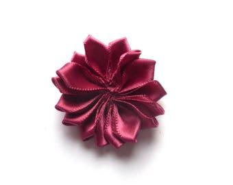 Flower Burgundy rayon fabric