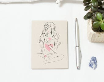 Simple Heart Fashion Illustration Notepad, Note Book