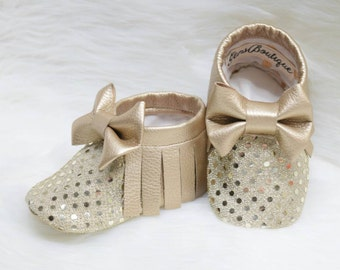 Baby Moccs, -Moccasins, -Sequins Moccs.