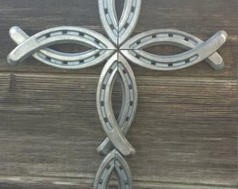 Handmade Horse Shoe Cross