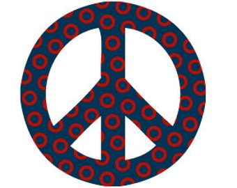 Peace Sign Donut Print Sticker