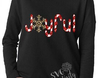 Joyful Christmas SVG, Candy cane Joyful SVG