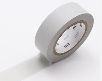Light Grey Washi Tape • MT Masking Tape Pastel Washi Tape • Washi Tape UK • Japanese stationery • Pastel Grey
