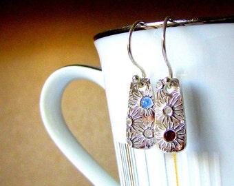 Handmade Silver Earrings - 'You're a Star!' - Gift for Friend - Fine Silver Earrings - Gemstone Earrings - Earrings - Australian Sellers
