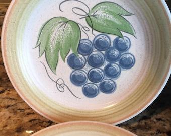 "5 Franciscan Fruit ""Large Fruit"" Bread and Butter Dessert Plates"