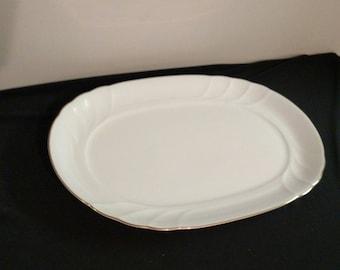Mikasa China Wedding Band Oval Serving Platter