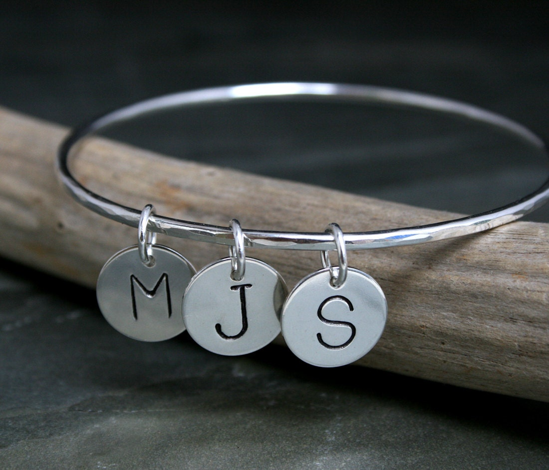 silk and bangle sterling bracelets bangles personalised personalized product silver charm hurleyburley original by