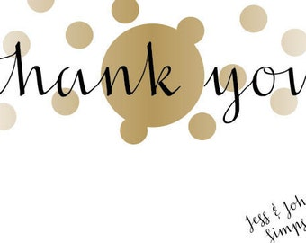 Personalized Thank You Card - Custom Thank You