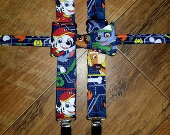 Royal Blue Paw Patrol boys tie/bow tie and suspender set/Great for pictures and Birthday Parties!/oufit/ paw Patrol for boys or toddlers