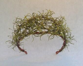 Woodland Hair Wreath, Bohemian Vine Crown, Rustic Bridal Crown, Ethereal Tiara, Wedding Hair Accessories, Greenery Crown, Festival Crown