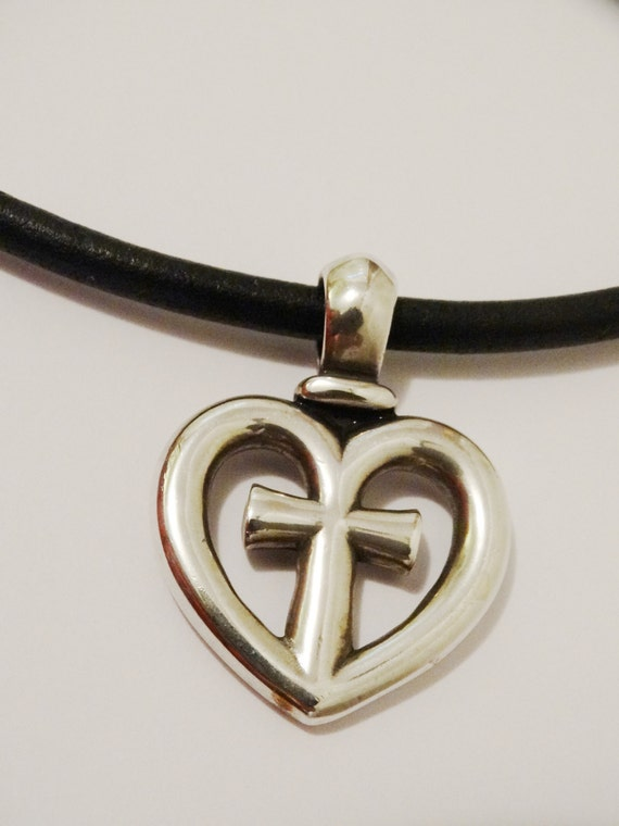 James avery retired large thick heartcross pendant 15 aloadofball Gallery