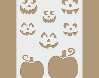 Pumpkins - Halloween Stencil
