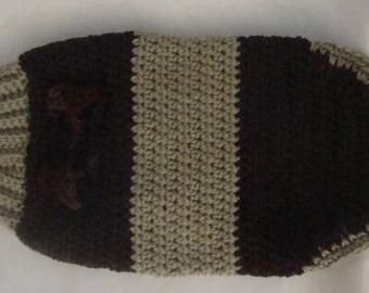 Dog Sweater, Small Dog Sweater, SM Dog Sweater, S Dog Sweater, Brown Dog Sweater, Halter Leash Sweater, S Brown Dog Sweater, Dog Sweater