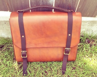 Handstitched Leather Satchel Bag|satchel| Leather Messenger Bag| Messenger Bag|Gift For Him| Leather Backpack| iPad bag