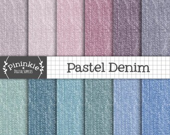 Denim Digital Paper, Fabric Texture, Jeans Scrapbooking Paper, Blue Jeans Pattern, Card Making Denim Papers, Denim Texture, Commercial Use