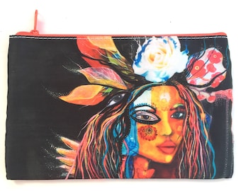 Blossoming, medium cosmetic pouch