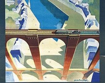 Vintage French Railways Morlaix Tourism Poster  A3 Print