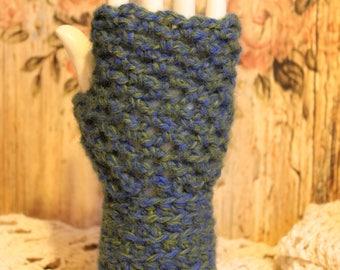Women's Cozy Warm Wool Fingerless Gloves - One Size