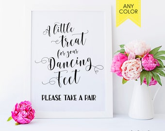 Wedding signs A little treat for your dancing feet Wedding decor Wedding printables Wedding signage Printable sign Wedding reception signs