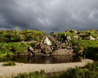 Waterfall Ireland / Irish Waterfall Landscape