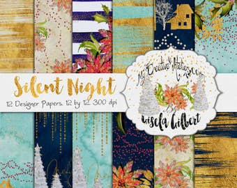 Silent Night. Christmas Designer Paper Pack