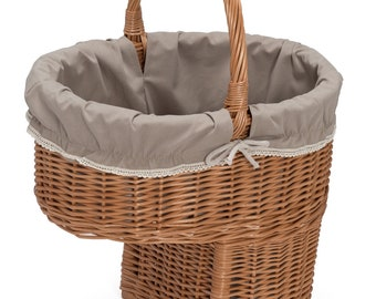 Wicker Stair Storage Basket