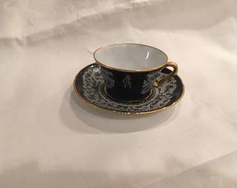 Rare Vintage Cuzzi & Co Venetian Teacup and Saucer