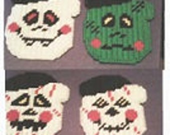 Little Halloween Faces Mittens