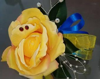 Yellow Tea Rose Corsage