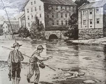 Historical prints by C E Monroe jr, historical Huntsville, Alabama, Alabama History, Huntsville Art, CE Monroe Prints,