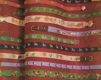 Belt Designs For Cross Stitch and Needlepoint - 14 Designs