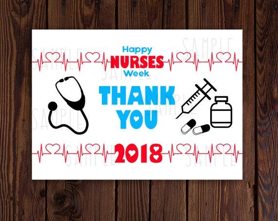Nurse week card nurse appreciation week nurses week gift idea m4hsunfo
