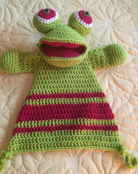 Lime and Red Frog Rag Doll Toy/Lovey—SALE