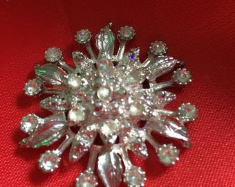 Beautiful Flower Embellishment with Diamond Gems. REDUCED