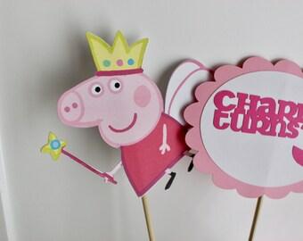 Peppa Pig Birthday, Peppa Pig Centre Pieces, Peppa Party, Peppa Decor, Peppa Pig Theme